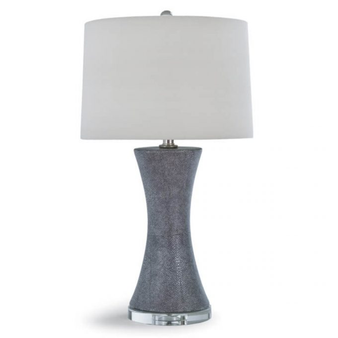 Charcoal Ceramic Shagreen Clara Lamp