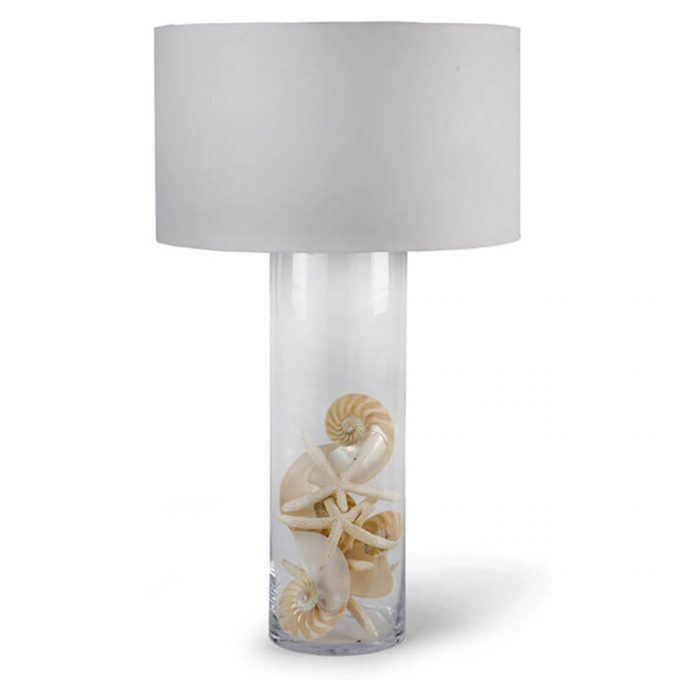 Display Glass Cylinder Table Lamp