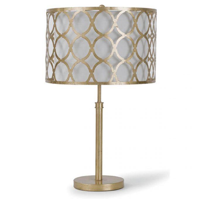 Metal Pattern Shaded Lamp