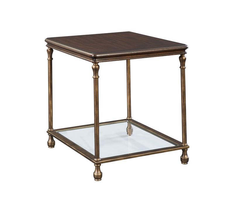 Wheatmore Manor Metal Accent End Table