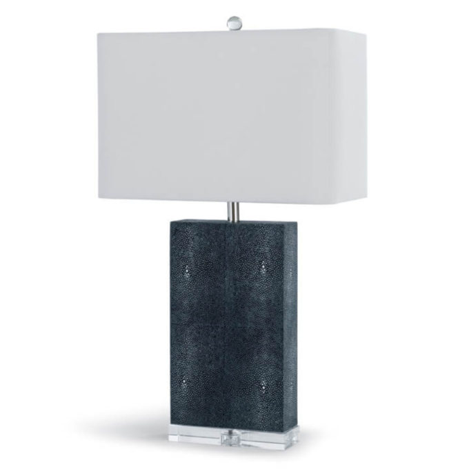 Marcel Charcoal Shagreen Column Table Lamp