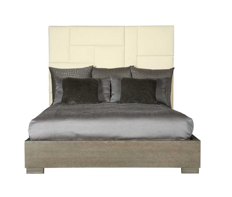 Mosaic Upholstered Panel Bed