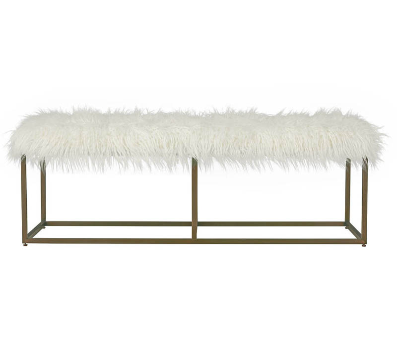 Bronze Modern Bench
