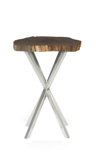 Petrified Chairside Table
