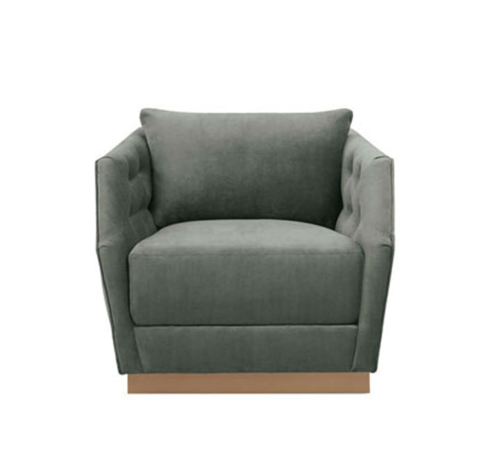 Tuft And Turn Swivel Chair