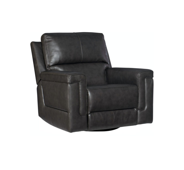 Gable Leather Swivel Chair