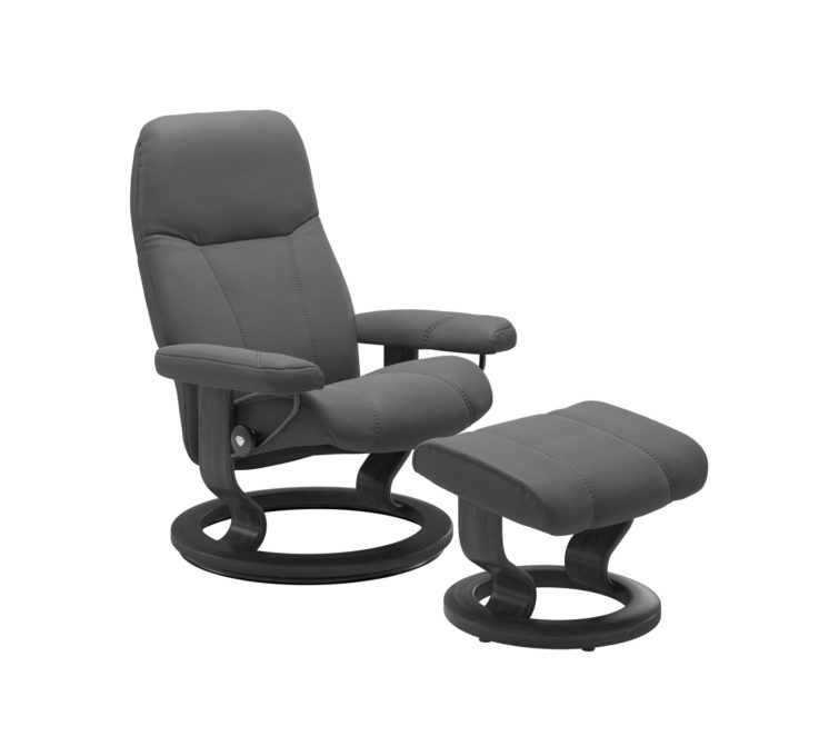 Consul Recliner Chair with Ottoman