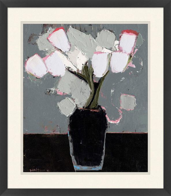 White Tulips in Vase 1