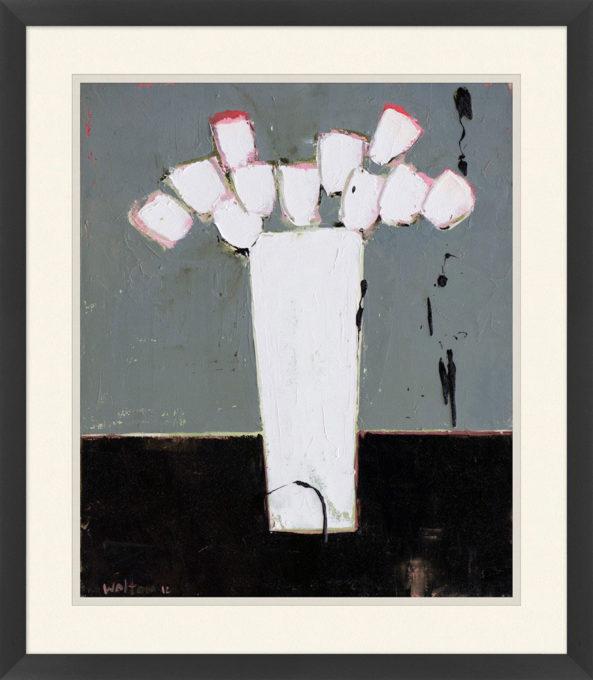 White Tulips in Vase 2