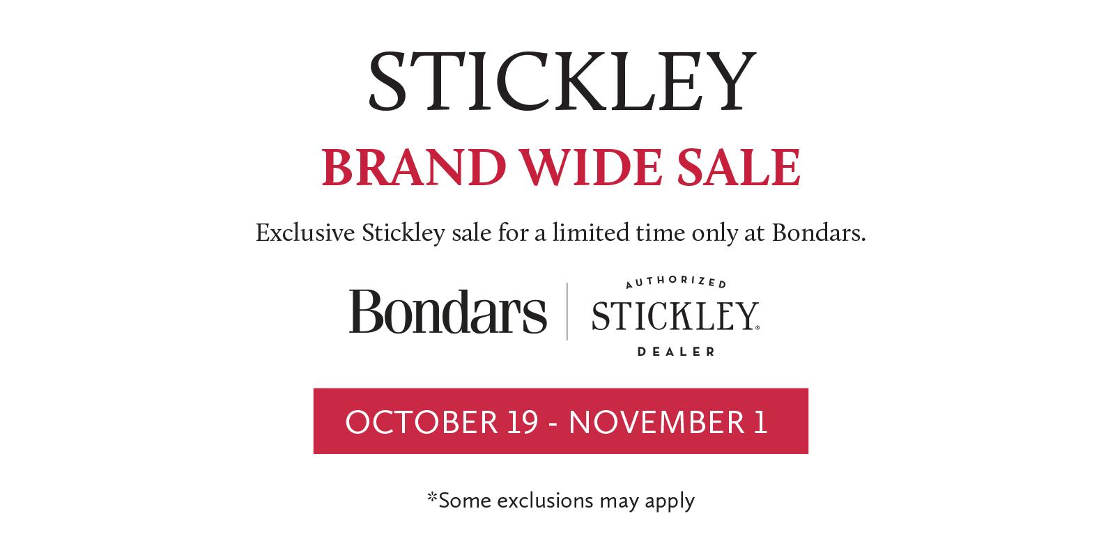 Stickley Oct Sale